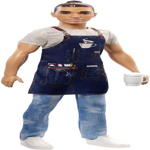 Image of Barbie karierre dukke barista Ken fxp03