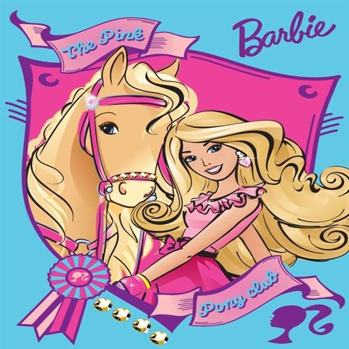 Image of Barbie Med Hest Gulvtæppe Til Børn 133X95
