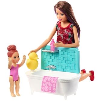 Image of Barbie Skipper Babysitter bade tid