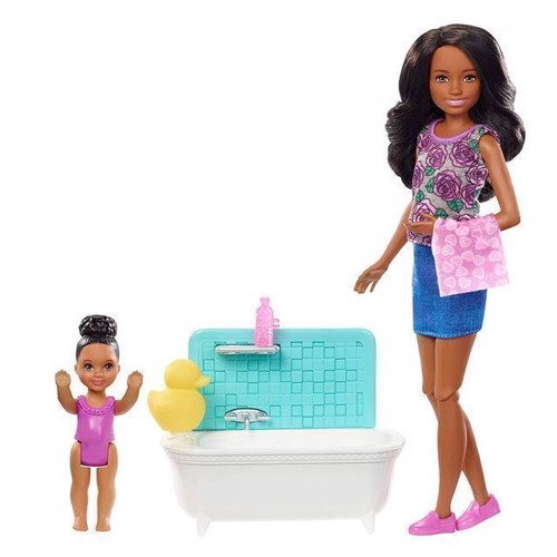 Image of Barbie Skipper Babysitters Doll And Playset Bathtub 2 Fxh06