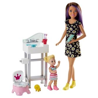 Image of Barbie babysitter badværelse