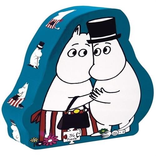 Image of Barbo Toys, puslespil, moomin mor og far