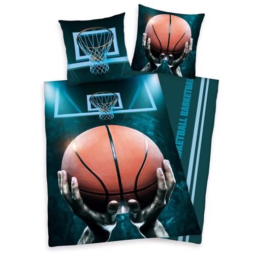 Image of Basketball Sengetøj 100 Procent Bomuld