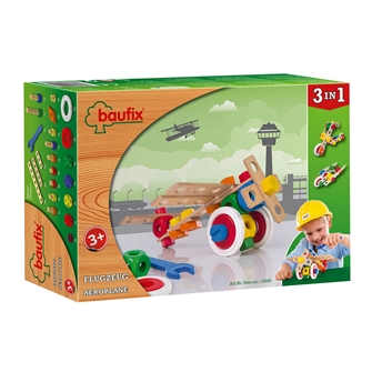 Image of Baufix Airplane Wooden Construction Set, 37 pounds. (9003150102007)