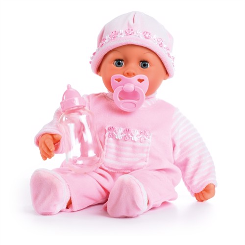 Image of Bayer dukke 38 cm, babys første ord blød lyserød