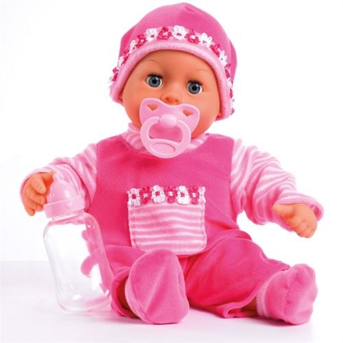 Image of Bayer dukke 38 cm, babys første ord lyserød