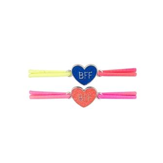 Image of BFF Bracelet with Glitter Heart, 2pcs. (8715973134424)
