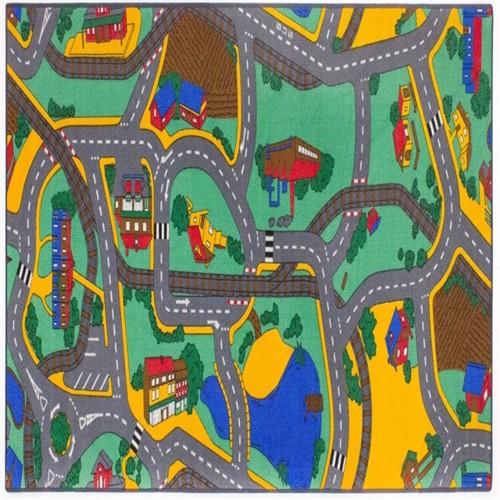 Image of Bil Legetæppe Playtime 95 x 200 cm (5413928685283)