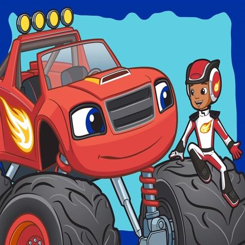 Image of Blaze Og Monstermaskinerne 01 Gulvtæppe Til Børn 133X95