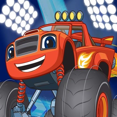 Image of Blaze Og Monstermaskinerne 02 Gulvtæppe Til Børn 133X95