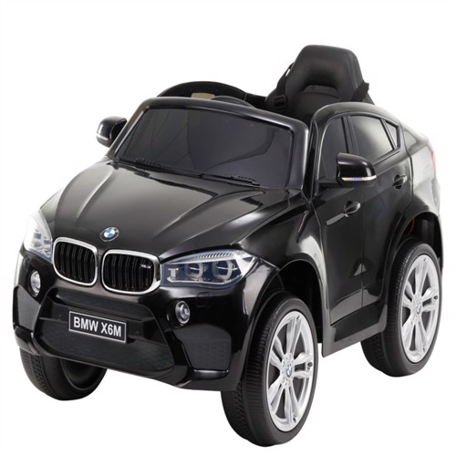 Image of Bmw X6M El Bil Til Børn 12V Sort M 24G Remote