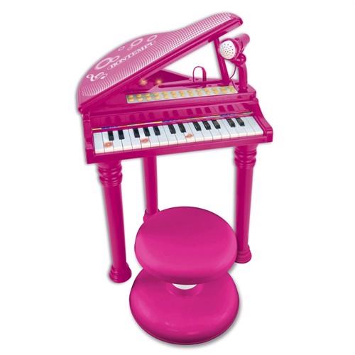 Image of Bontempi Klaver Med Mikrofon Og Pink Stol