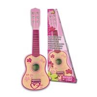 Bontempi - Small pink wooden guitar, 55 cm (225572)?