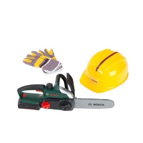 Image of   Bosch legetøj, motorsav med tilbehør