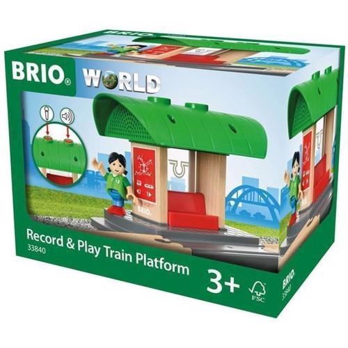Image of   Brio, optag og leg, tog platform