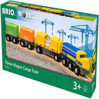 ​BRIO - Three-Wagon Cargo Train​ (33982)