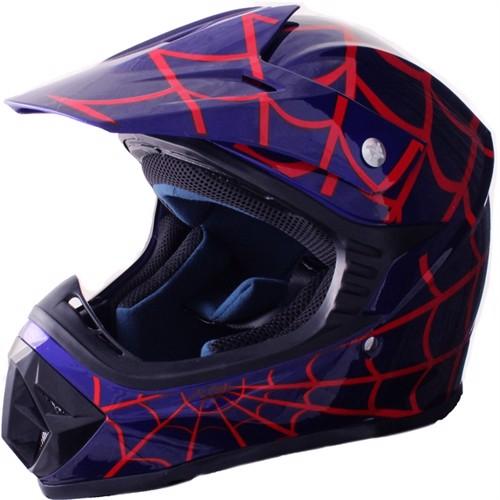 Image of Børne Crosser Hjelm SpiderBlue str. XL (5712548123077)