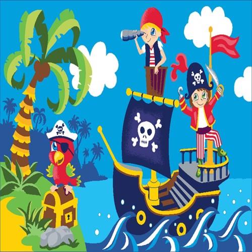 Image of Børne Tæppe Pirater 120X80