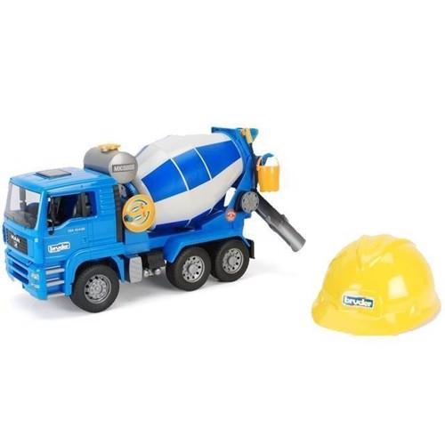 Image of Bruder - MAN TGA 1638 Cement Mixer, med hjelm (4001702016388)