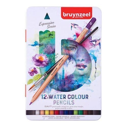 Image of Bruynzeel Expression Aquarelfarver 12st