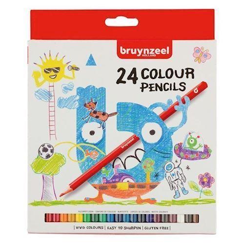 Image of Bruynzeel Kids farve blyanter, 24 dele