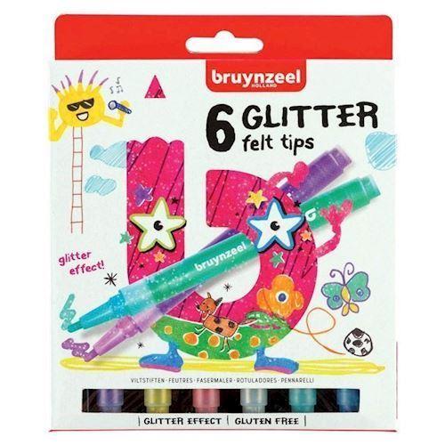 Image of Bruynzeel Kids - Glitter Tuscher, 6stk