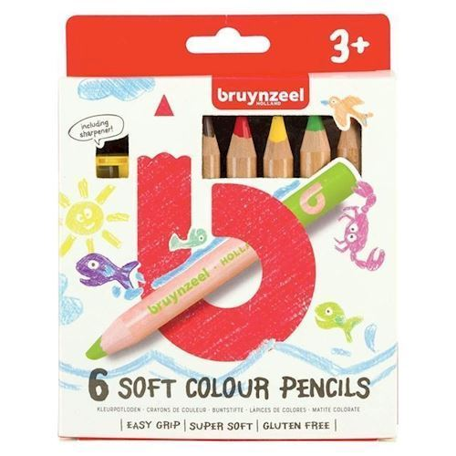 Image of Bruynzeel Kids - Store Farveblyanter, 6stk