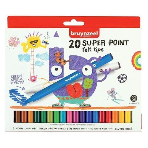Image of Bruynzeel Kids - Super Point Tuscher, 20stk
