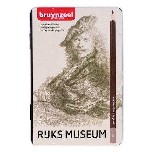 Image of Bruynzeel Rijksmuseum Graphite blyanter 12 stk