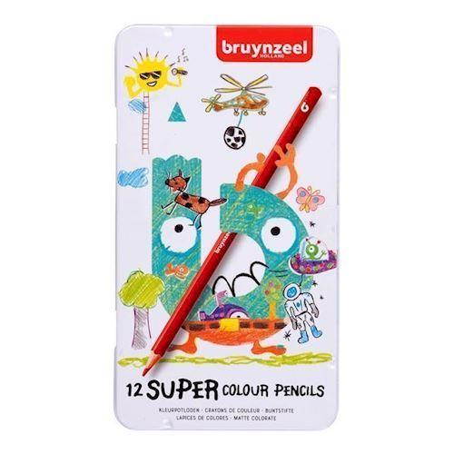 Image of Bruynzeel Super farveblyanter 12 stk (8712079434427)