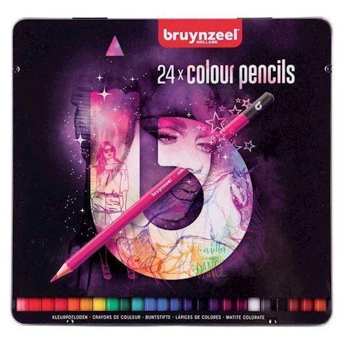 Image of Bruynzeel - Tin Farveblyanter, Lys 24stk (8712079412241)