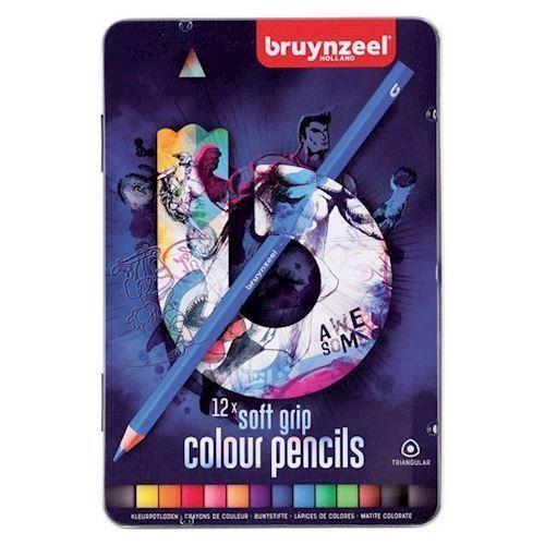 Image of Bruynzeel - Triple Soft Farveblyanter, Mørk 12 stk (8712079412210)