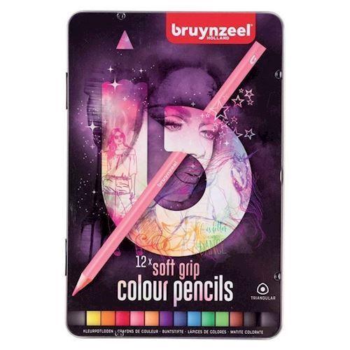 Image of Bruynzeel - Triple Soft Farveblyanter, Lys 12 stk
