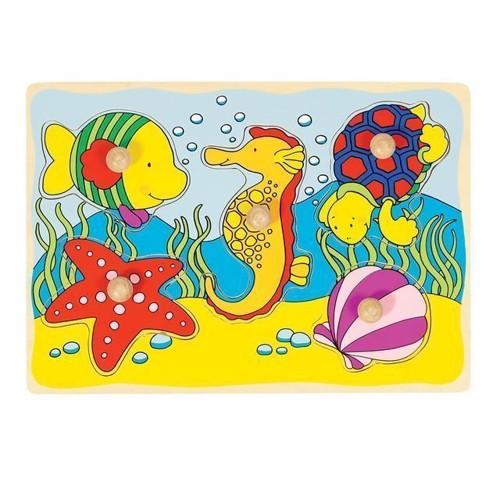 Image of Knoppuslespil, undervandsverden 5 brikker