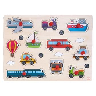 Image of Knop puslespil med køretøjer