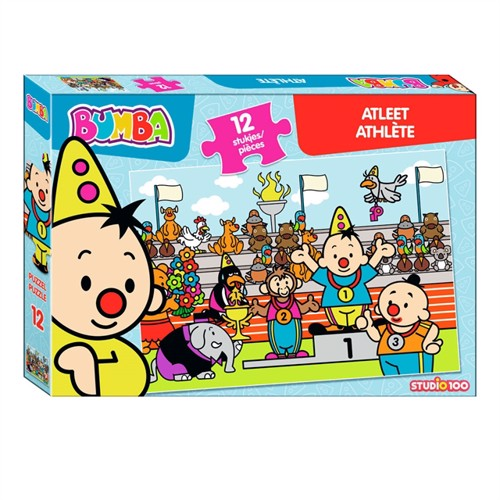 Image of Bumba Puzzle Athlete, 12 pieces. (5414233224570)