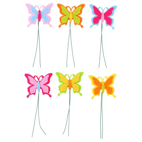 Image of Butterfly on stick, 6pcs. (8711252143156)