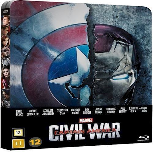 Image of Captain America Civil War Blu-Ray Steelbook (8717418484262)