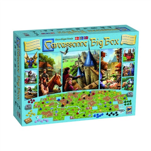 Image of Carcassonne - Big Box (nordic) (7350065323402)