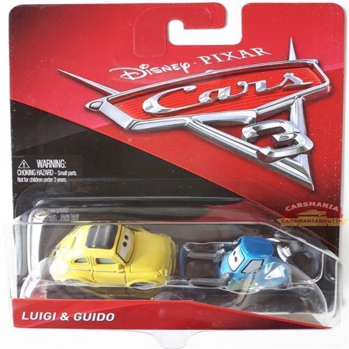Image of   Cars 3 biler Die Cast, Luigi & Guido (FJH93)