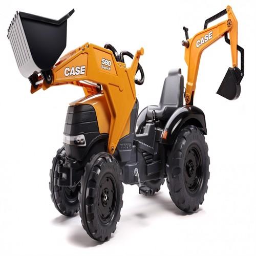 Image of Case Ih 580 Super N Traktor Med Frontskovl Gravekran