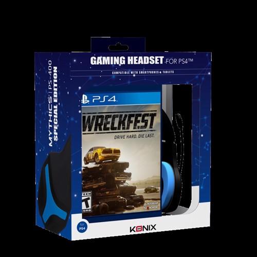 Image of CEA - Konix PS-400 Headset & Wreckfest Playstation 4 Bundle (4020628872403)