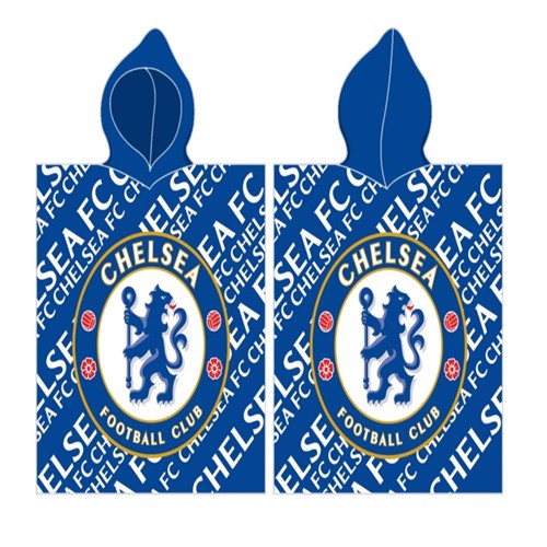 Image of Chelsea Fc Poncho 100 Procent Bomuld