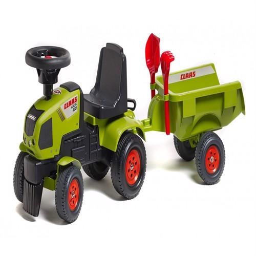 Image of Claas Axos Gå Traktor Med Trailer Og Værktøj