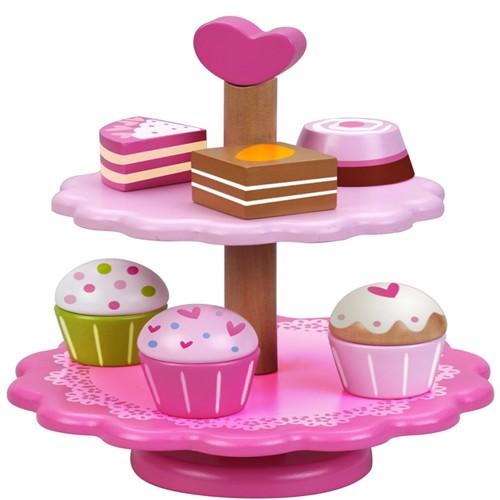 Image of Classic Kagefad Cupcake Stand I Træ