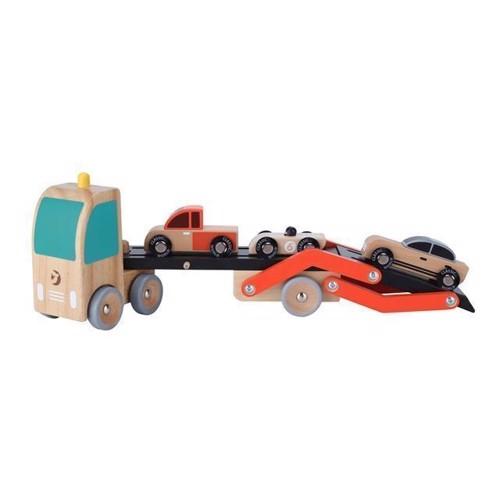 Image of Classic World, Bil transpoter med biler