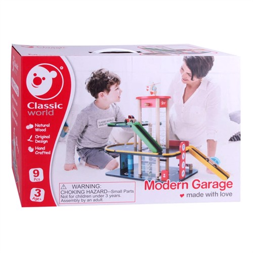 Image of Classic World Wooden Garage, 9 dele