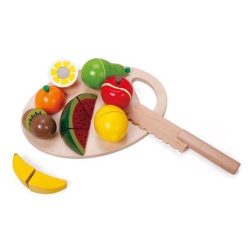 Image of Classic World, halve frugter med skærebræt, 17 dele