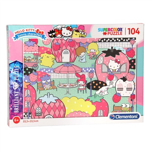 Image of Clementoni Brilliant Puzzle Hello Kitty, 104st. (8005125201723)