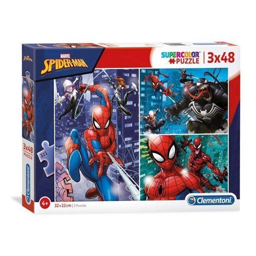 Image of Clementoni - Brilliant Puslespil Spiderman 3x48stk